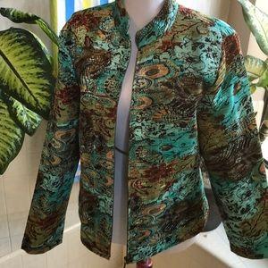 Analogy gorgeous jacket in brown, tan, blue-green